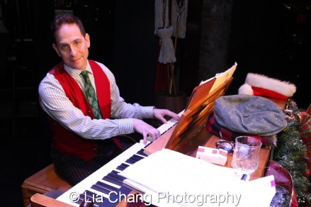 Garth Kravits on the keys at Bucks County Playhouse in New Hope, PA on December 16, 2015. Photo by Lia Chang