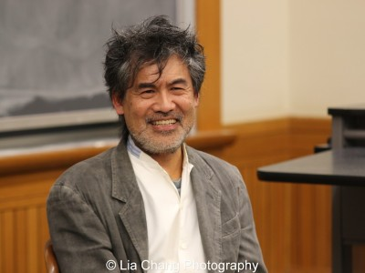 David Henry Hwang speaks at The Center for the Study of Ethnicity and Race at Columbia University on December 7, 2015. Photo by Lia Chang