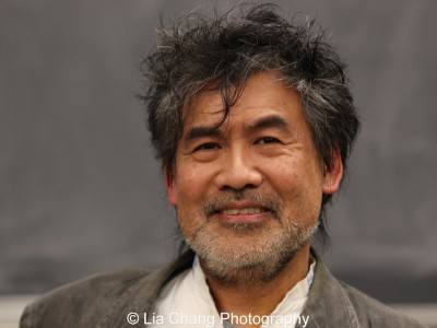 David Henry Hwang speaks at The Center for the Study of Ethnicity and Race at Columbia University in New York on December 7, 2015. Photo by Lia Chang
