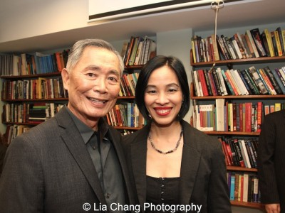 George Takei and Lia Chang at The Center for the Study of Ethnicity and Race at Columbia University in New York on December 7, 2015. Photo by Lia Chang