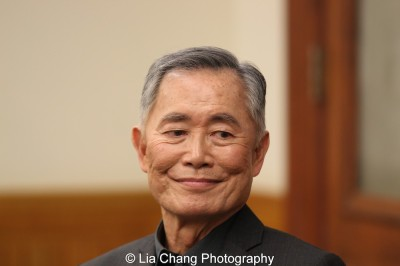 George Takei speaks at The Center for the Study of Ethnicity and Race at Columbia University in New York on December 7, 2015. Photo by Lia Chang