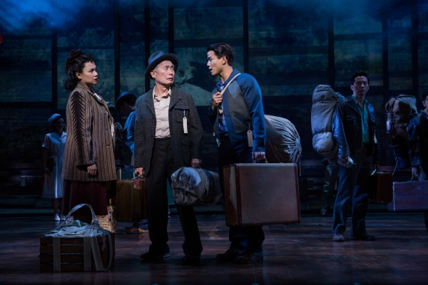 Lea Salonga, George Takei, Telly Leung, Michael K Lee and cast of Allegiance. Photo by Matthew Murphy