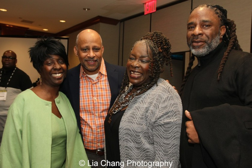 Phyllis Yvonne Stickney, Ruben Santiago-Hudson, Ebony Jo-Ann and her son Kenneth Fagan. Photo by Lia Chang