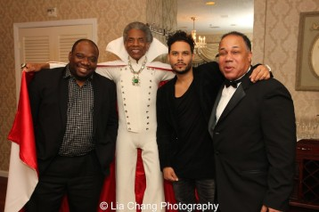 """James """"Biscuit"""" Rouse, André De Shields, Steven """"Styles"""" Rodriguez and David Alan Bunn. Photo by Lia Chang"""