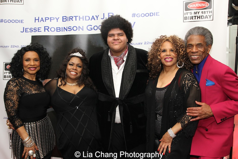 Norma Jean Wright, Dhonna Goodale, J.R., André De Shields and Alfa Anderson. Photo by Lia Chang