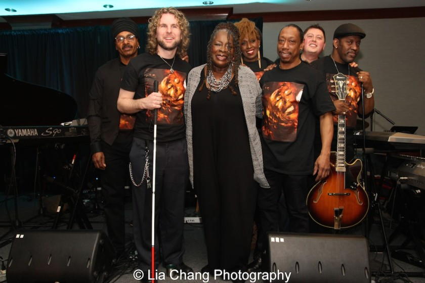 Chulo Gatewood, Danny Kean, Ebony Jo-Ann, Aziza Miller, Howard Robbins, Phil Bloom, andMark Bowers. Photo by Lia Chang