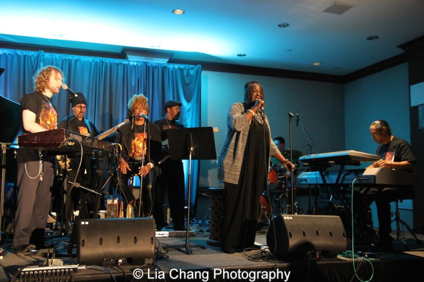 Danny Kean, Chulo Gatewood, Aziza Miller, Mark Bowers, Ebony Jo-Ann, Phil Bloom and Howard Robbins. Photo by Lia Chang