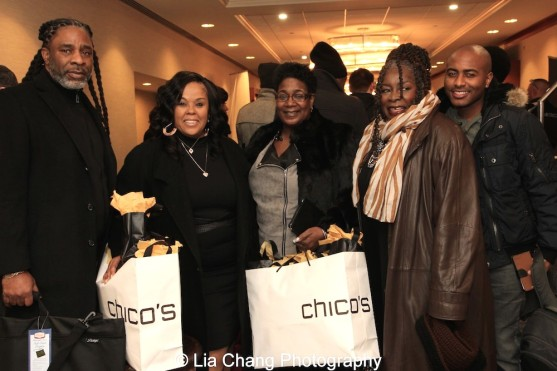 Kenneth Fagan, Crystal Smith, Tish Harvey, Ebony Jo-Ann and Kenneth Todd Nelson. Photo by Lia Chang