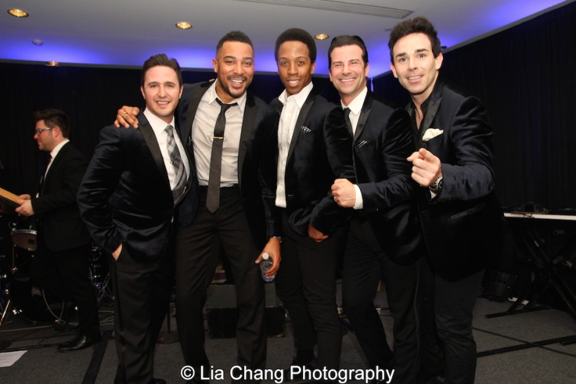 The Doo Wop Project- Russell Fischer, Charl Brown, Dwayne Cooper, Dominic Nolfi and Dominic Scaglione Jr. performed at the APAP Conference at the NY Hilton on January 17, 2016. Photo by Lia Chang