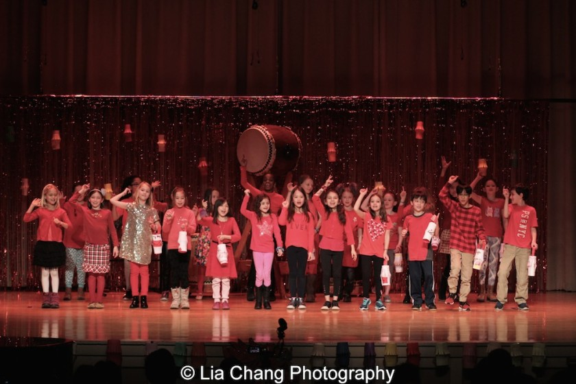 "Lisa Uhr's 3rd grade students and Adriana Pena's dual language 3rd grade students sing ""Gung Hay Fat Choy"" at the P.S. 87 Pan Asian Lunar New Year Celebration at the William T Sherman School in New York on January 29, 2016. Photo by Lia Chang"