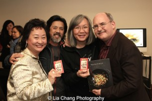 Joanna C. Lee, Tony Jee, June Jee and Ken Smith at the Museum of Chinese in America on January 30, 2016. Photo by Lia Chang
