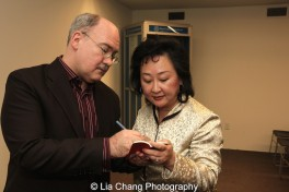 Ken Smith and Joanna C. Lee sign copies of their Pocket Chinese Almanac 2016 at the Museum of Chinese in America on January 30, 2016. Photo by Lia Chang