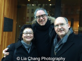 Joanna C. Lee, Stewart Wallace and Ken Smith at the Museum of Chinese in America on January 30, 2016. Photo by Lia Chang