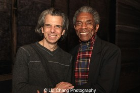 Marc Acito and André De Shields at the Longacre Theatre in New York on February 13, 2016. Photo by Lia Chang