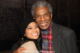 Shea Renne and André De Shields at the Longacre Theatre in New York on February 13, 2016. Photo by Lia Chang