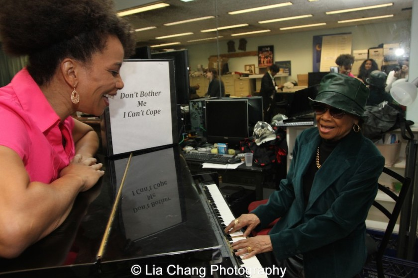 Debra Walton and Micki Grant. Photo by Lia Chang