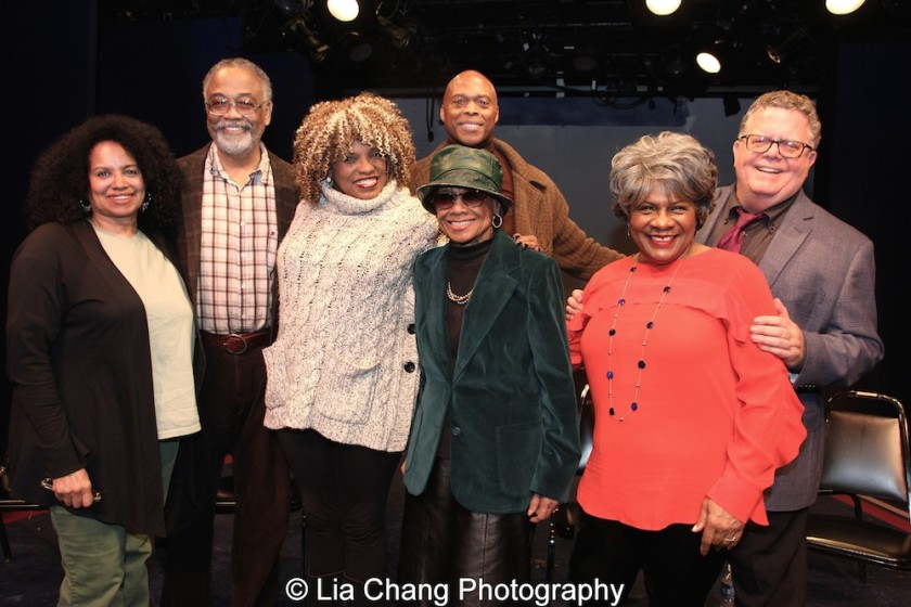 Julia Lema, William Foster McDaniel, Leslie Dockery, Micki Grant, Erich McMillan-McCall, Tina Fabrique and James Morgan. Photo by Lia Chang