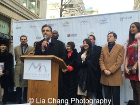 "Matthew Bauer, President, Madison Avenue BID at ""Madison Street to Madison Avenue"" Lunar New Year Celebration on Feb. 6, 2016 in New York City. Photo by Lia Chang"