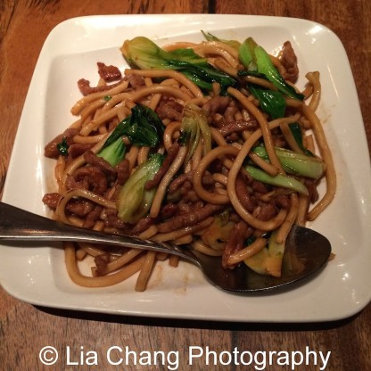 Shanghai Pan Fried Noodles at The Bao in New York. Photo by Lia Chang