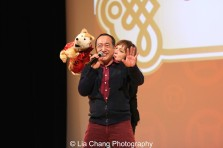 Sesame Street's Alan Muraoka and Pam Arcerio at the Metropolitan Museum of Art's annual Lunar New Year festival on February 6, 2016 in New York. Photo by Lia Chang