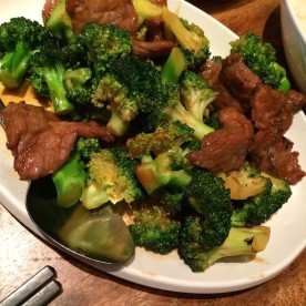 Beef and Broccoli at The Bao in New York. Photo by Lia Chang