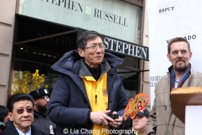 """Wellington Chen, Executive Director of the Chinatown Partnership at """"Madison Street to Madison Avenue"""" Lunar New Year Celebration on Feb. 6, 2016 in New York City. Photo by Lia Chang"""