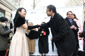 "Chair of the Bund Association for Promotion of Commerce & Trade, Michelle Lee and Matthew Bauer, President, Madison Avenue BID, at ""Madison Street to Madison Avenue"" Lunar New Year Celebration on Feb. 6, 2016 in New York City. Photo by Lia Chang"