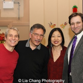 Alex Sanchez, drummer Charles Descarfino, Lainie Sakakura and Musical Director Steven Jamail at the P.S. 87 Pan Asian Lunar New Year Celebration at the William T Sherman School in New York on January 29, 2016. Photo by Lia Chang
