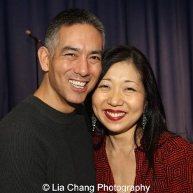 Andrew Sakaguchi and Lainie Sakakura at the P.S. 87 Pan Asian Lunar New Year Celebration at the William T Sherman School in New York on January 29, 2016. Photo by Lia Chang