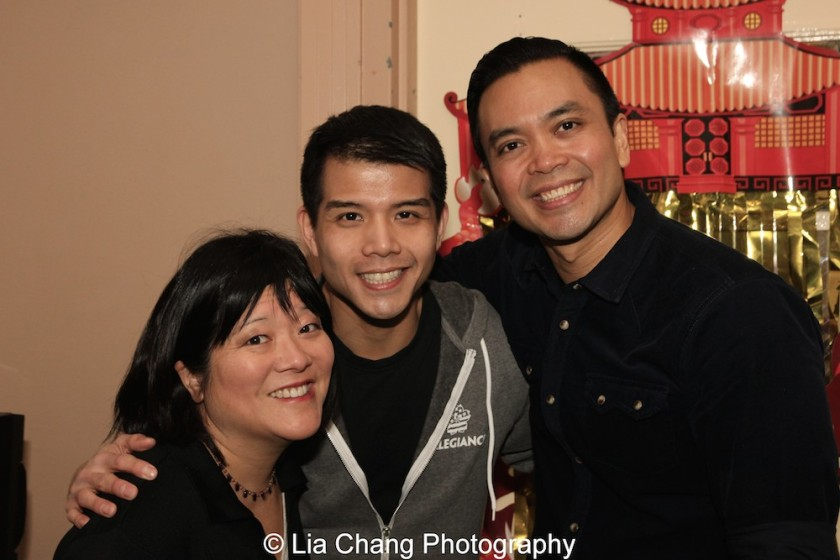 Ann Harada, Telly Leung and Jose Llana at the P.S. 87 Pan Asian Lunar New Year Celebration at the William T Sherman School in New York on January 29, 2016. Photo by Lia Chang