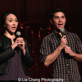 Belinda Allyn and Sam Tanabe at the P.S. 87 Pan Asian Lunar New Year Celebration at the William T Sherman School in New York on January 29, 2016. Photo by Lia Chang