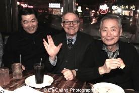 Christopheren Nomura, Brad Takei and George Takei. Photo by Lia Chang