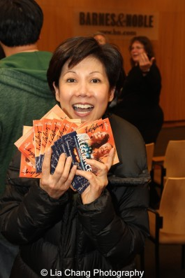 Dawn Akiyama is a big fan of ALLEGIANCE and bought many CDs for friends and family in Hawaii. Photo by Lia Chang