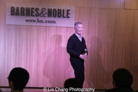 George Takei introduced the show and his castmates at the ALLEGIANCE live performance and CD Signing at Barnes and Noble in New York on Feb. 5, 2016. Photo by Lia Chang