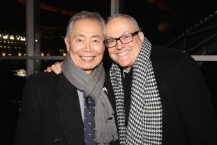 George Takei and husband Brad Takei at the AALDEF lunar new year gala at PIER SIXTY, Chelsea Piers in New York City on February 16, 2016. Photo by Lia Chang