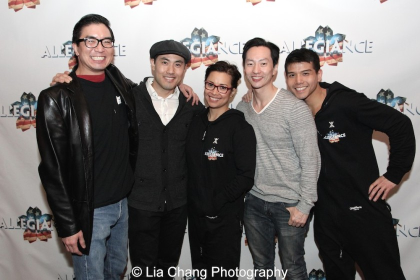 Greg Watanabe, Marcus Choi, Lea Salonga, Michael K. Lee and Telly Leung. Photo by Lia Chang