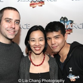 James Babcock, Lia Chang and Telly Leung. Photo by Garth Kravits