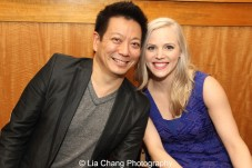 Jay Kuo and Katie Rose Clarke celebrate the release of the ALLEGIANCE Original Cast recording at the Barnes and Noble CD Signing event in New York on Feb. 5, 2016. Photo by Lia Chang