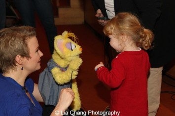 Sesame Street's puppeteer Jennifer Barnhart at the Metropolitan Museum of Art's annual Lunar New Year festival on February 6, 2016 in New York. Photo by Lia Chang