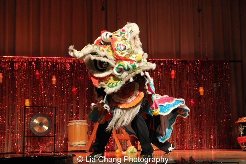 Kwan's Kung Fu Lion Dancers at the P.S. 87 Pan Asian Lunar New Year Celebration at the William T Sherman School in New York on January 29, 2016. Photo by Lia Chang
