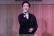 "Lea Salonga sings ""Higher"" to celebrate the release of the ALLEGIANCE Original Cast recording at the Barnes and Noble CD Signing event in New York on Feb. 5, 2016. Photo by Lia Chang"