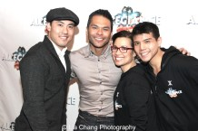 Marcus Choi, Bobby Pestka, Lea Salonga and Telly Leung. Photo by Lia Chang