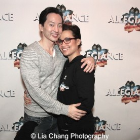 Michael K. Lee and Lea Salonga. Photo by Lia Chang