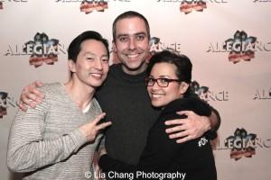 Michael K. Lee, James Babcock and Lea Salonga. Photo by Lia Chang