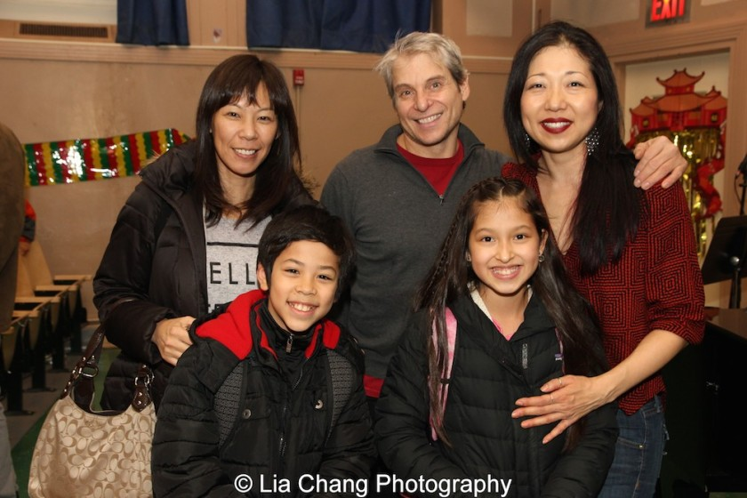 Miyuki Takahashi, Kai Rivera, Alex Sanchez, Avelina Sanchez and Lainie Sakakura at the P.S. 87 Pan Asian Lunar New Year Celebration at the William T Sherman School in New York on January 29, 2016. Photo by Lia Chang