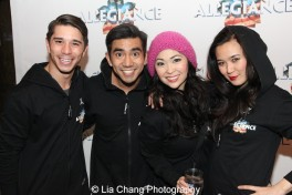 Sam Tanabe, Aaron J. Albano, Janelle Dote and Elena Wang. Photo by Lia Chang