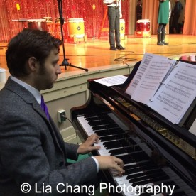 Musical director Steven Jamail at the P.S. 87 Pan Asian Lunar New Year Celebration at the William T Sherman School in New York on January 29, 2016. Photo by Lia Chang