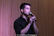 "Telly Leung sings ""With You"" to celebrate the release of the ALLEGIANCE Original Cast recording at the Barnes and Noble CD Signing event in New York on Feb. 5, 2016. Photo by Lia Chang"