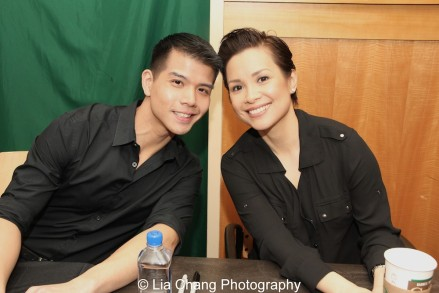 Telly Leung and Lea Salonga celebrate the release of the ALLEGIANCE Original Cast recording at the Barnes and Noble CD Signing event in New York on Feb. 5, 2016. Photo by Lia Chang