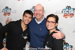 Telly Leung, Matthew Woolf and Lea Salonga. Photo by Lia Chang